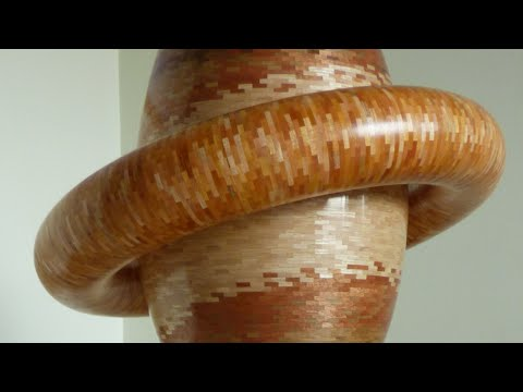 Woodturning A Big 30 000 segments Vase For 30k Subscribers