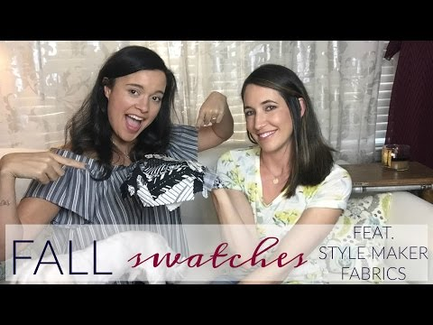 Swatch Review Featuring Style Maker Fabrics Fall/Winter Fabric Collection