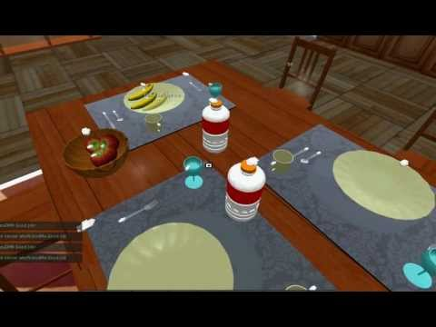 Direct manipulation of objects in a virtual world- Trivial example 1- with fixed contact point