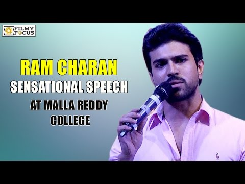 Ram Charan Speech at Malla Reddy College Annual Day Event - Filmyfocus.com