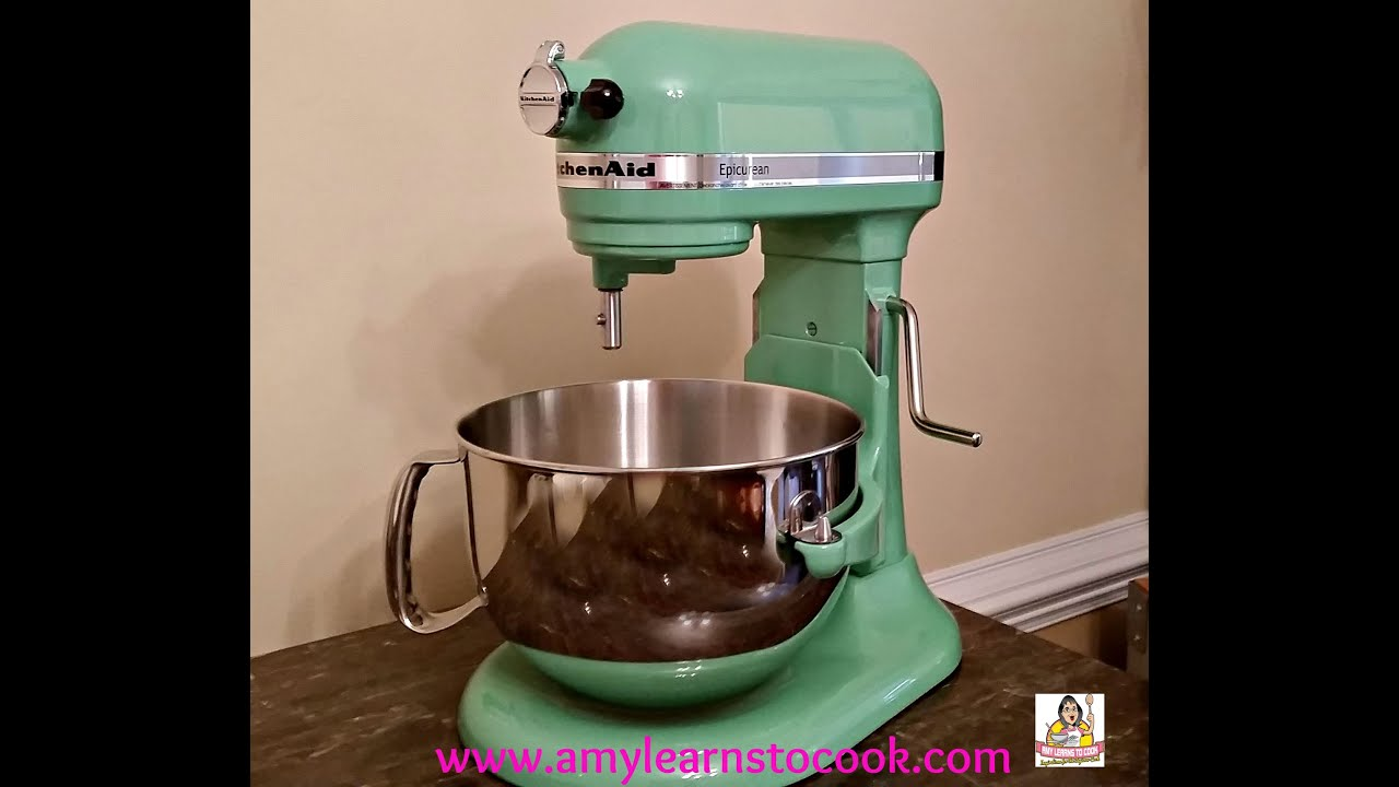 Exceptional KitchenAid Stand Mixer 6 Quart Unboxing   Seacrest Green   YouTube