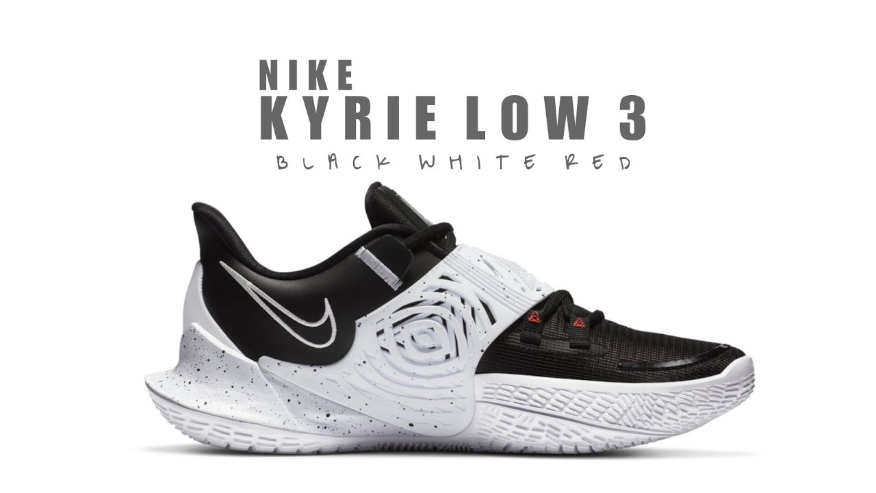 NIKE KYRIE LOW 3 EP BLACK WHITE RED