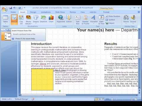 making an academic research poster using power point - youtube, Presentation templates