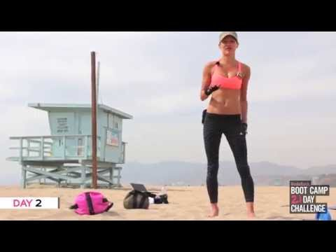 Day 2 of 21 Day Bootcamp Challenge (Santa Monica Beach sexy workout - Los Angeles, CA)
