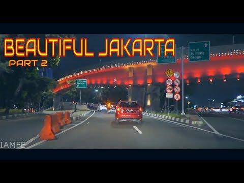 BEAUTIFUL DOWNTOWN JAKARTA AT NIGHT