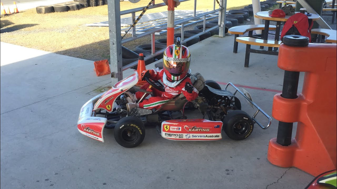 PIERO at 3 yrs and 8 months. The WORLD\'S Fastest 3 year old go kart ...