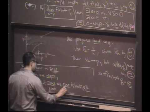 Real Analysis, Lecture 20: Functions - Limits and Continuity