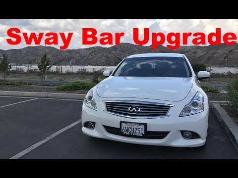 How to Install Sway Bars for Infiniti G37