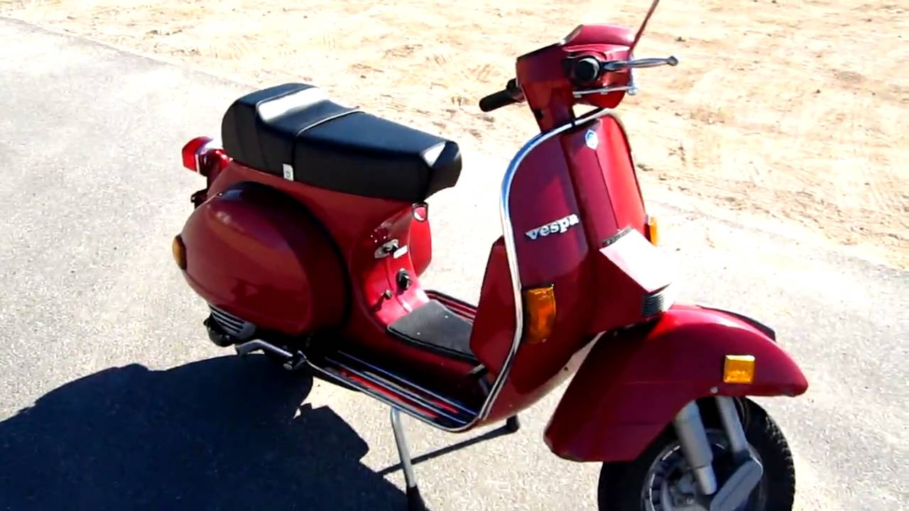 1986 vespa px 150 engine start youtube. Black Bedroom Furniture Sets. Home Design Ideas