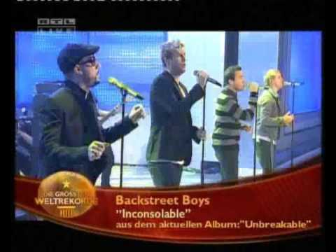 2007 11 23   Backstreet Boys   Guinness World Records Show Germany   Inconsolable