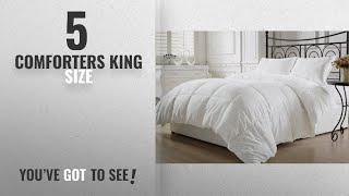 Top 10 ComfortersKing Size [2018]: KingLinen White Down Alternative Comforter Duvet Insert (King,