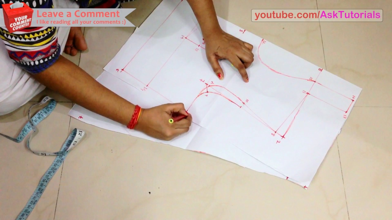 High Collar Neck Blouse Cutting and Stitching - Part 1 - Drafting ... a7db9aa3c