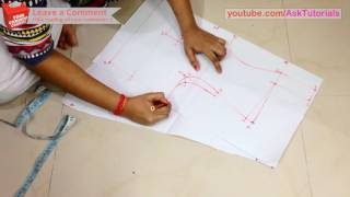 High Collar Neck Blouse Cutting and Stitching - Part 1 - Drafting | in Hindi