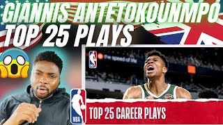?? BRIT Reacts To GIANNIS ANTETOKOUNMPO BEST CAREER PLAYS!