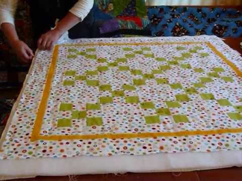 How to baste a quilt with safety pins - Quilting Tips & Techniques ... : basting quilt - Adamdwight.com