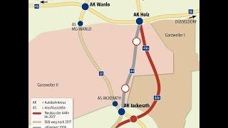 Bald muss ein Teil der A61 südlich von Mönchengladbach dem Tagebau Garzweiler 44n weichen