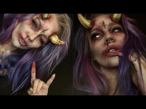 demonic possession halloween makeup tutorial