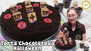 Você gosta de CHOCOLATE..?? | TORTA CHOCOLATUDA HALLOWEEN | Torta Cremosa de Chocolate #433