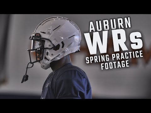 Watch Eli Stove, Darius Slayton And The Auburn Wide Receivers During Spring Practice