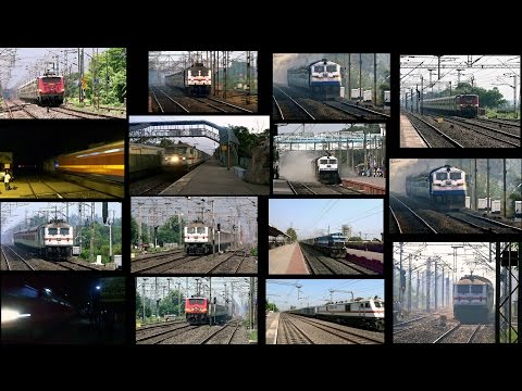 High Speed Attack's of Superfast Trains on Indian Railways:- 14 in 1 Mega Compilation...!!