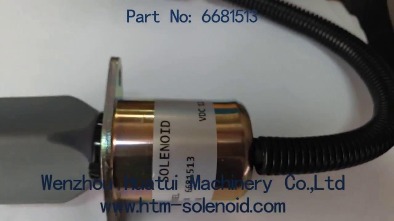 6681513 12v diesel engine stop solenoid for bobcat kubota super mini series 4hp [ 1280 x 720 Pixel ]