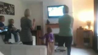 2 mums dancing to Nintendo Wii