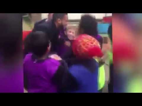Arsenal Star: Walcutt Mobbed By Excited Children