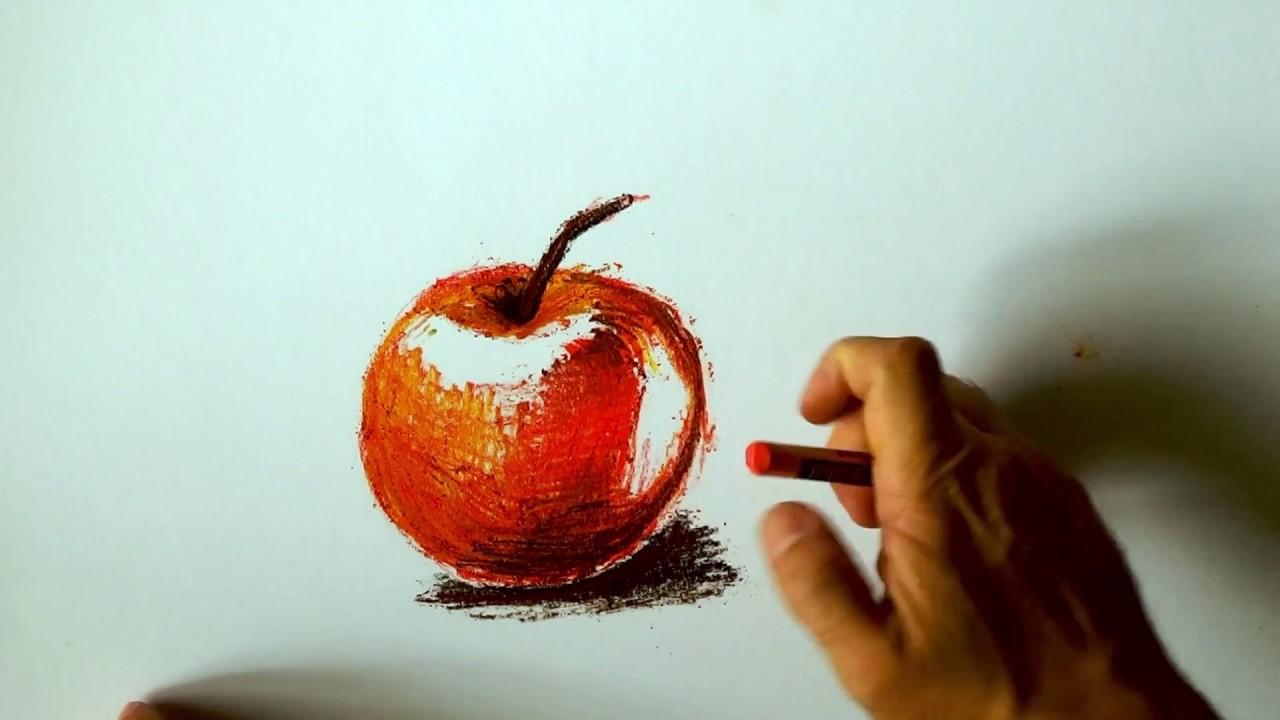 Kresba Suchym Pastelem Jablko Dry Pastel Youtube