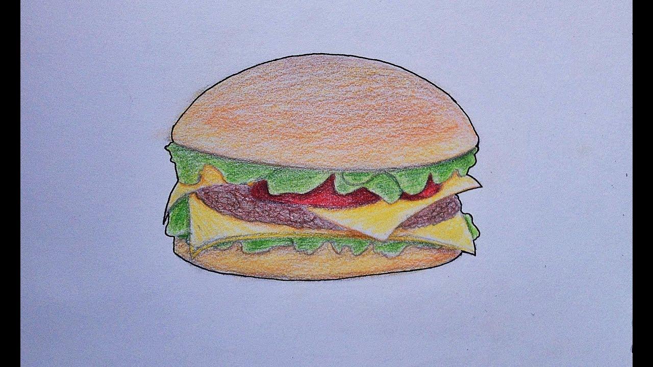 Comment Dessiner Un Hamburger Youtube