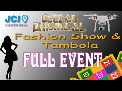 JCI  Hyderabad Deccan - Deccan Dhamaal - Tambola With Fashion Show || Drone Shoot Full Event