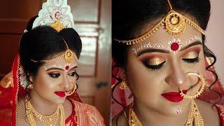 Best Bengali Bridal makeover l MAC HD makeup Full Coverage l Celebrity Bridal makeup l MUA Sneha