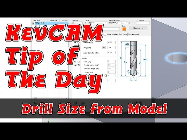 Tip of the Day - Drill Size from Model