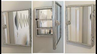 Dollar Tree DIY - 💕 Mirrored Storage Box/Cabinet 💕