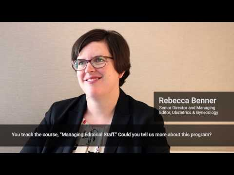 Courses on Academic Publishing - An Interview with Rebecca Benner : Part 10