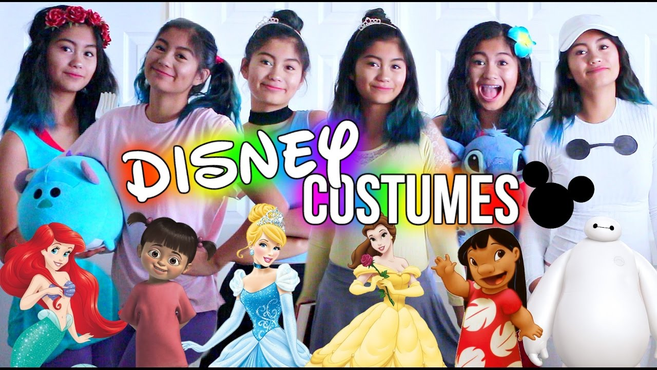 diy last minute disney costumes for halloween! | juliannxo - youtube