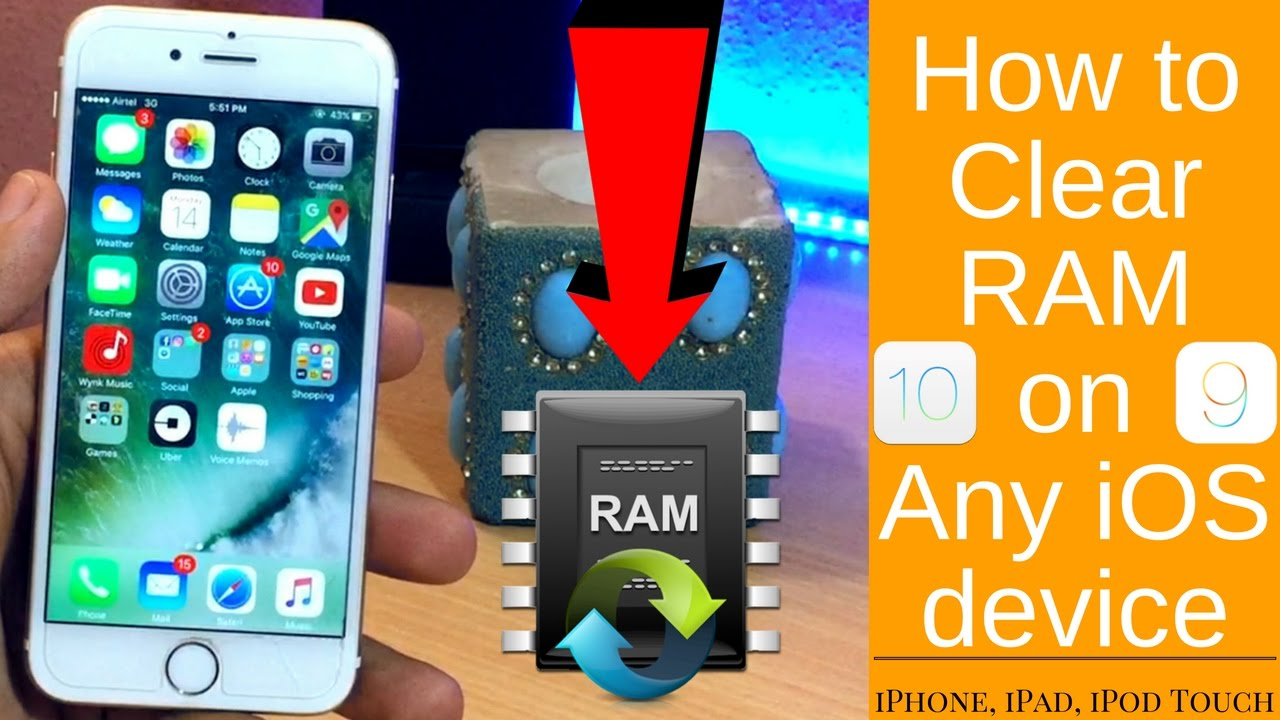 How To Clear Ram Of Any Ios Device & Clear Cache Data !! Clear Iphone , Ipad  , Ipod Ram Ios 10, 9, 8