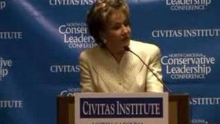 Elizabeth Dole touts spending restraint in Civitas speech