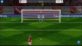 Dream League Soccer 2016 ( RMA VS MAN) penalty Shotout