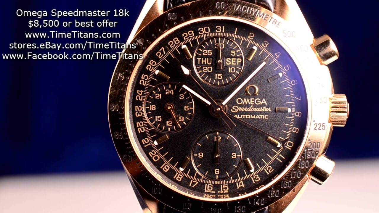 Omega Speedmaster Automatic 18k Red Gold 3623.50.21 ...
