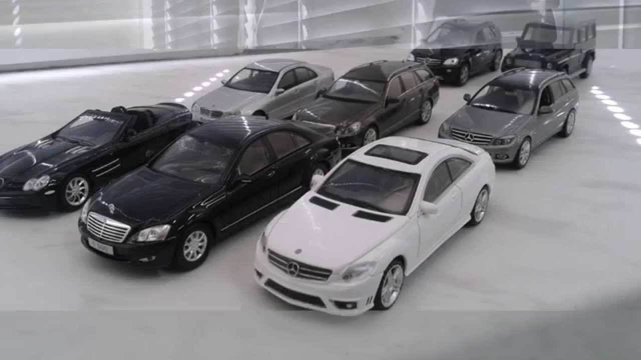 My mercedes benz 1 43 diecast car collection youtube for Mercedes benz collection