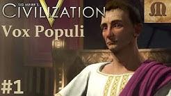Let's Play Civilization 5 Vox Populi - Rome p.1 (deity, epic)