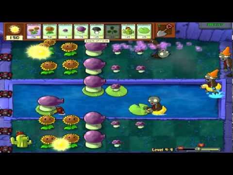 Plants vs zombies (Trồng cây bắn zombie) - Cấp độ 4-4 (Game Việt Hóa)