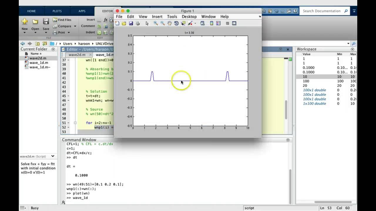 Lab12_1: Wave Equation 1D