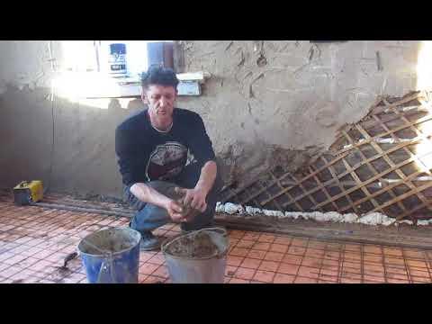 Как штукатурить глиной стены видео