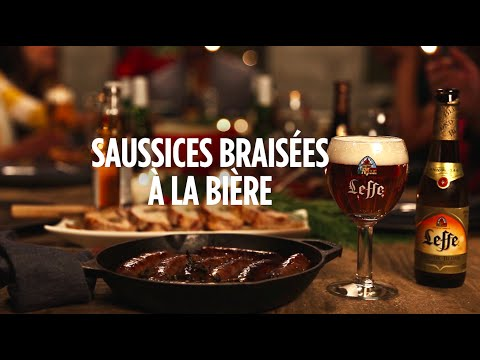 Saucisses braisées à la bière - recette - Un Faim de Fêtes