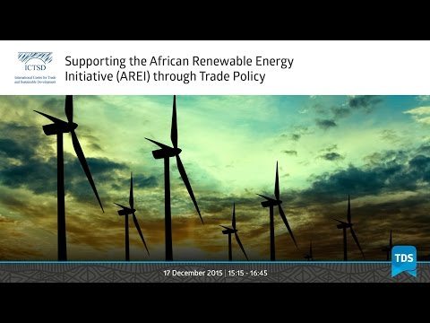TDS LIVE | Supporting the African Renewable Energy Initiative (AREI) through Trade Policy