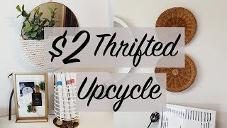 $2 THRIFT UPCYCLE // DIY thrifted decor