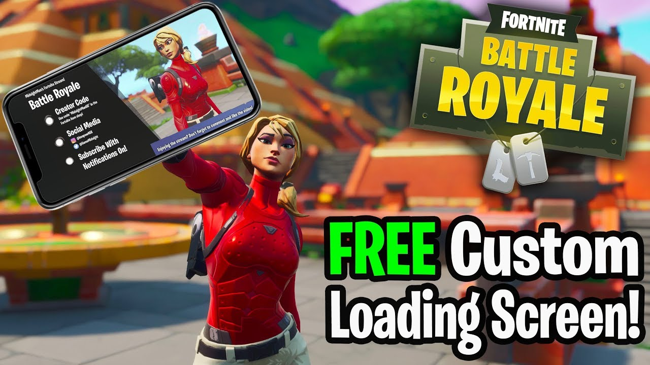 Free Fortnite Custom Loading Screen Intro Outro Youtube