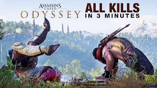 Assassin's Creed Odyssey in 3 Minutes - ALL Finishing Moves / Brutal Kills Compilation