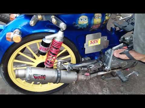 Test Knalpot WRX C3 Honda C70 155cc Swap Engine Mio